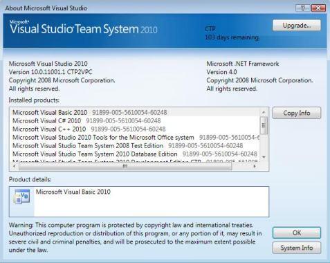 Visual Studio 2010 CTP | JAPF | Jeremy Alles Blog