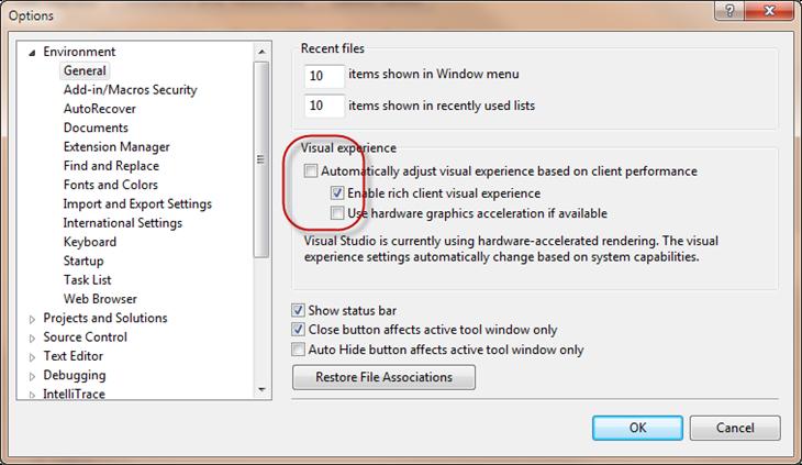 Visual Studio 2010 and HW acceleration on Windows XP… | JAPF
